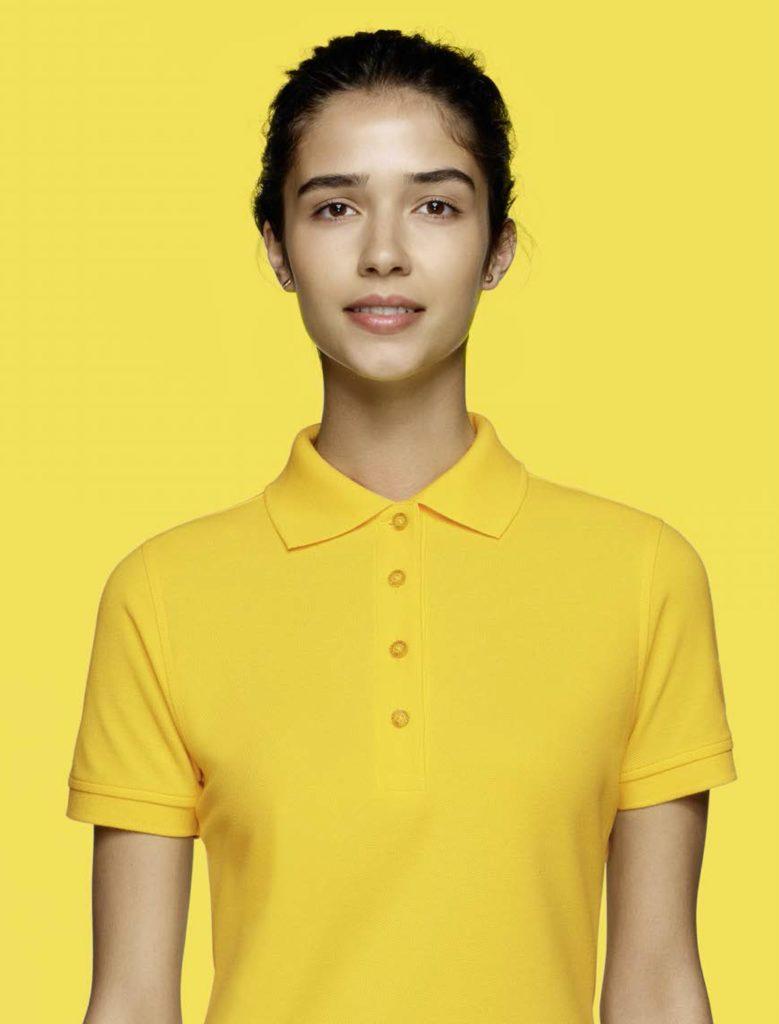Poloshirt Zitronengelb
