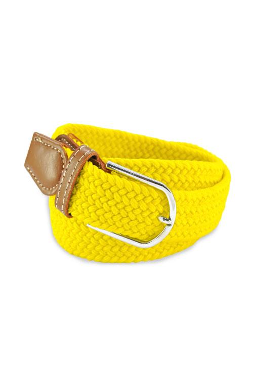 Flechtgürtel in gelb
