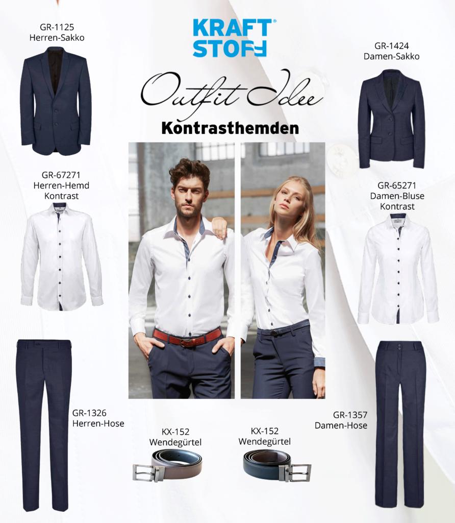 Outfit Idee - Kontrasthemden