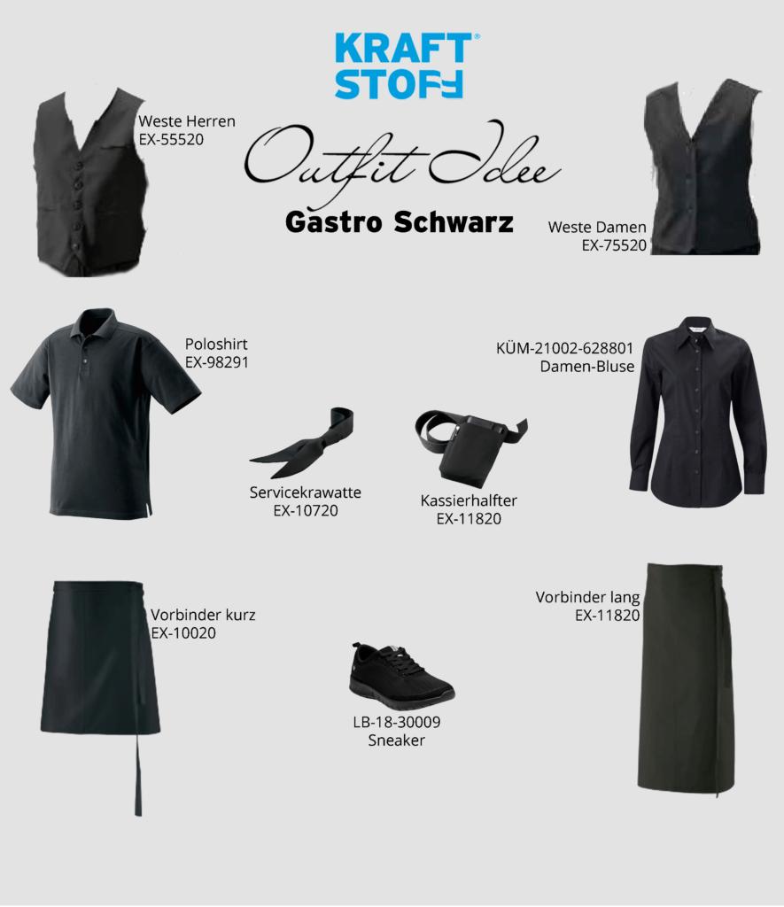 Outfit Idee - Gastro Schwarz