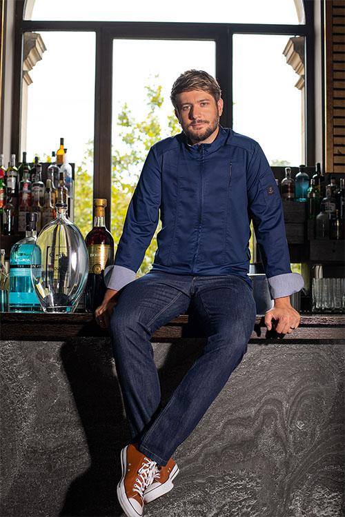 Berufsbekleidung Kantine Greiff Premium Kochjacke mit Jeans