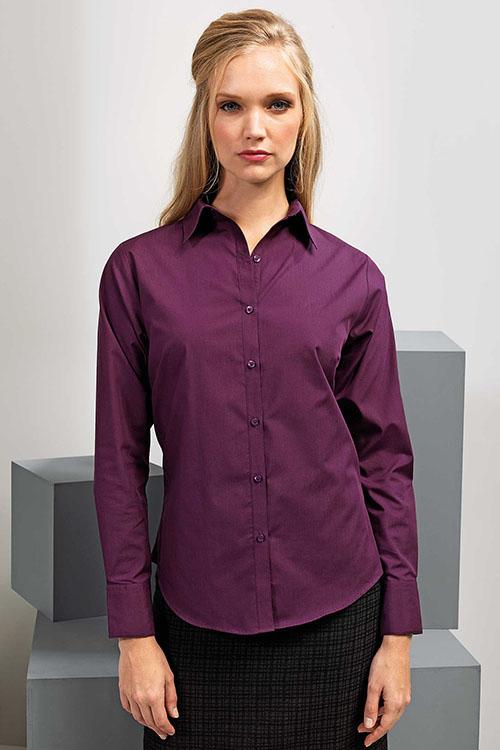 Premier Workwear Langarm-Bluse in vielen Farben erhältlich