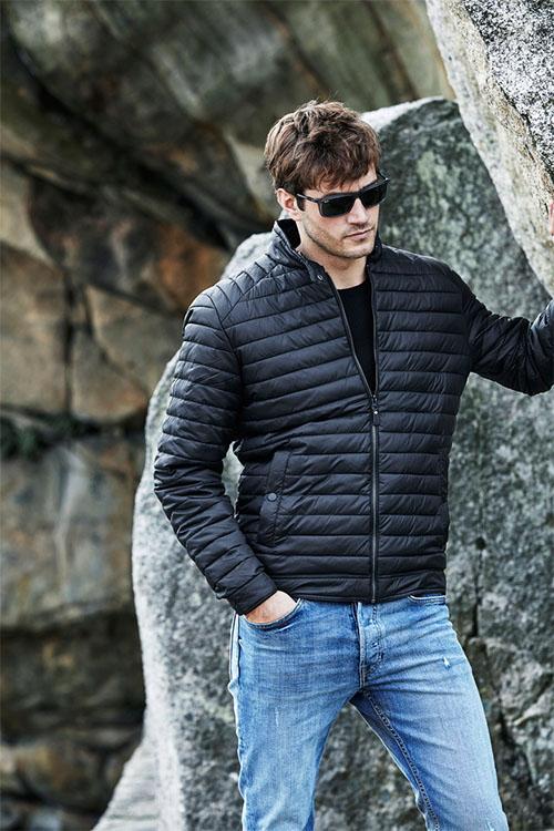 TeeJays Milano Jacket mit leichter Kunstdaunenfüllung in black