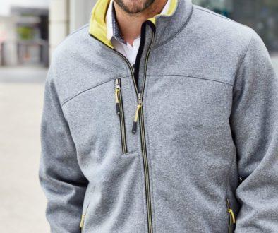 James Nicholson Men´s Softshell Jacke - Herren Softshelljacke in Melange Optik mit Fleece Innenseite in Kontrastfarbe