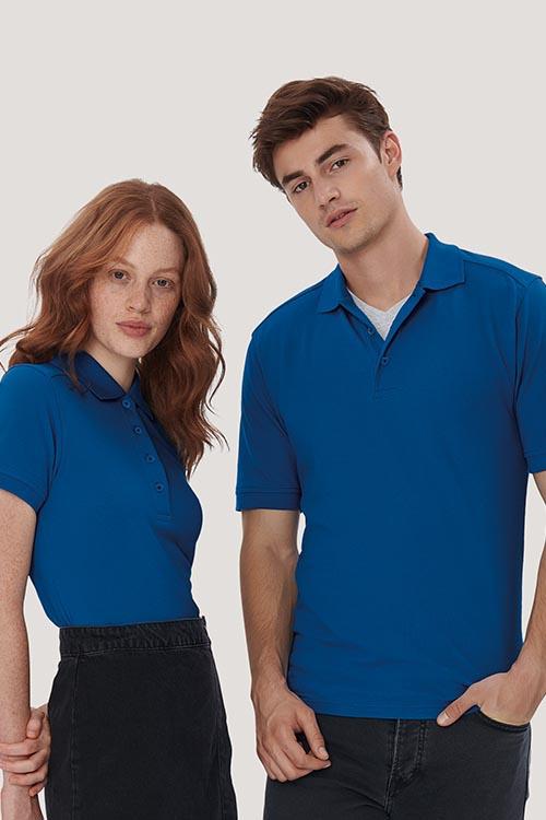 Hakro Poloshirt High Performance Farbe Ultramarinblau Mischgewebe