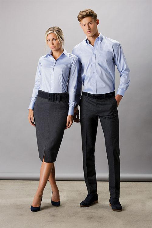 Kustom Kit - Corporate Oxford Shirt Long Sleeve