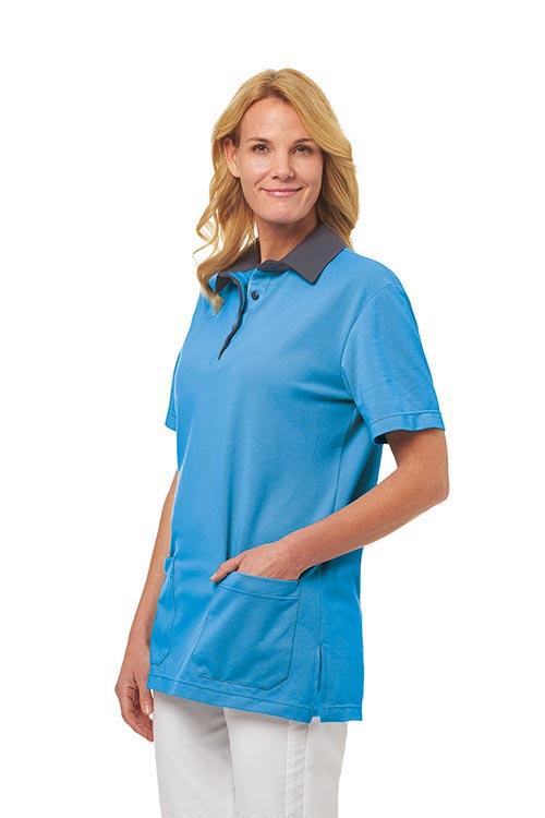 Leiber Unisex-Poloshirt 1/2 Arm mit Kontrastfarbe
