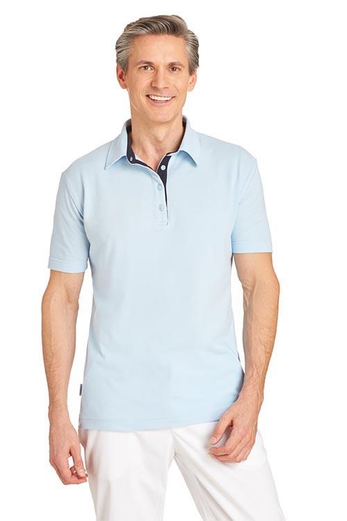 Leiber Unisex Poloshirt 1/2 Arm mit Kontrastfarbe
