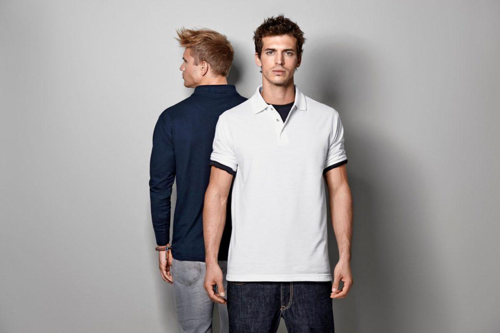 ID Pro Wear - Herren Poloshirt kurzarm und langarm mit Druckknöpfen