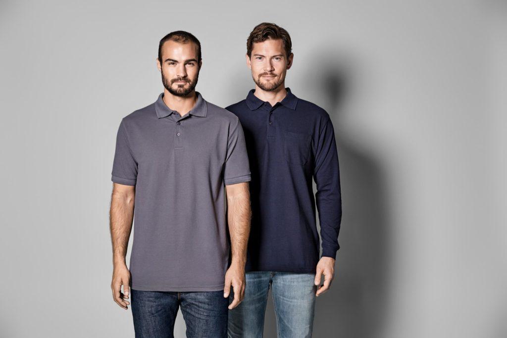 ID Pro Wear - Herren Poloshirt kurzarm und langarm Mischgewebe