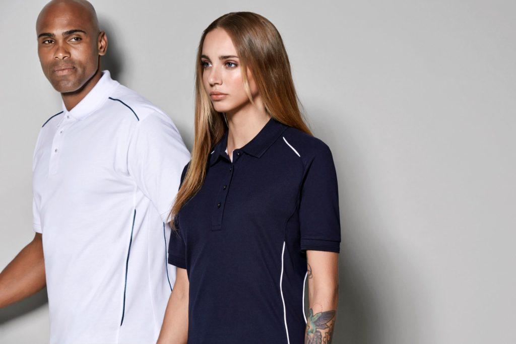 ID Pro Wear - Damen Poloshirt / Herren Poloshirt mit Kontrastpaspeln an Schulter und Seite