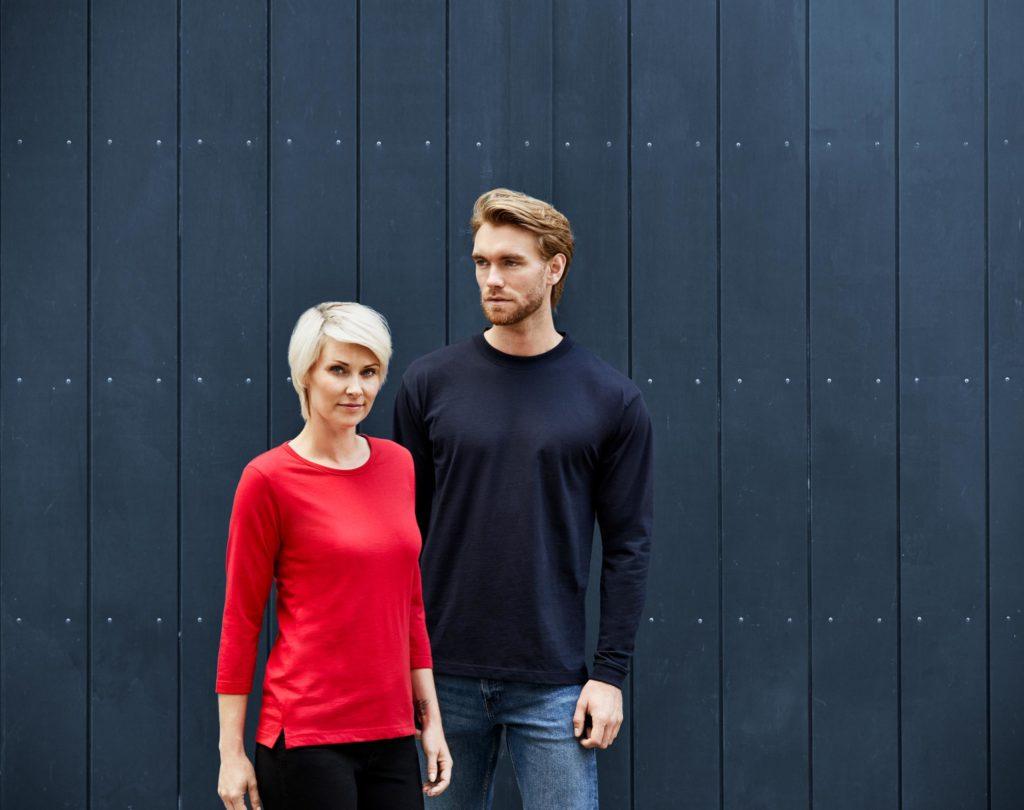 ID Pro Wear - Damen 3/4 T-shirt / Herren Langamrshirt mit rundem Halsausschnitt