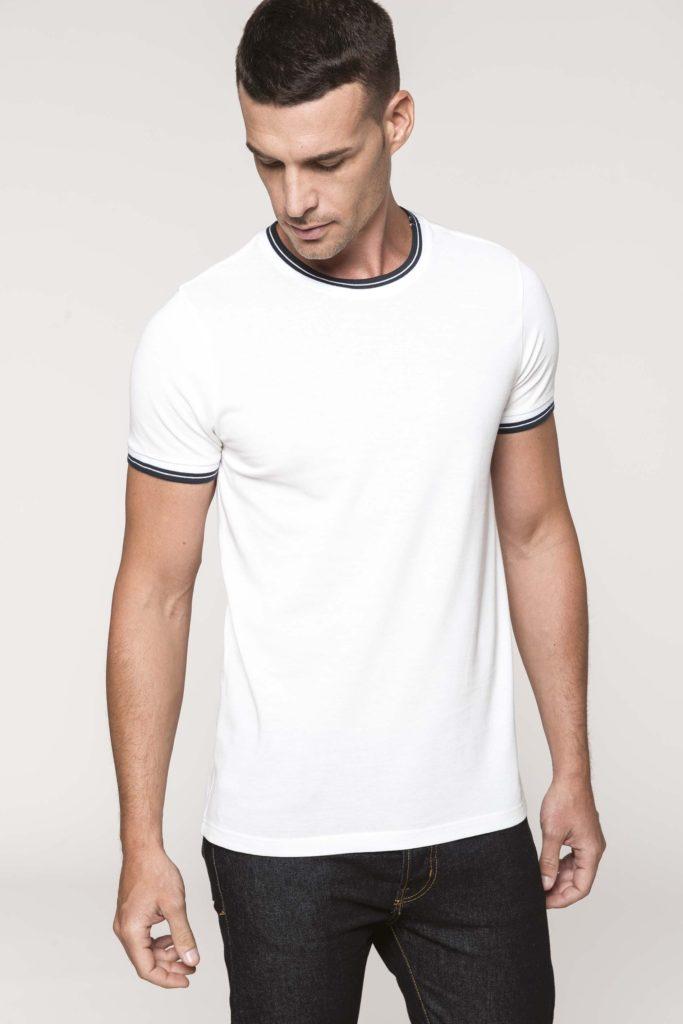 """Berufsbekleidung Labor Kariban T-shirt """"Twin Tipped"""" - Herren Rundhals mit Kontrastfarben"""