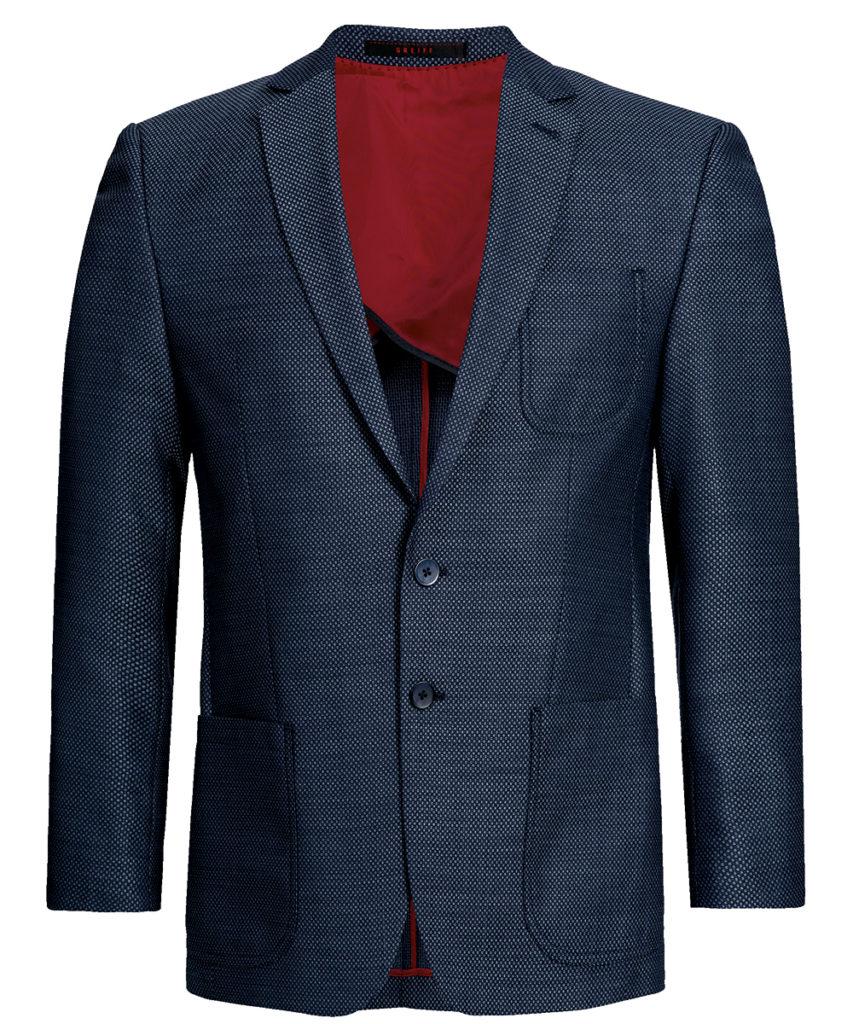 Greiff Casual-Sakko blau strukturiert
