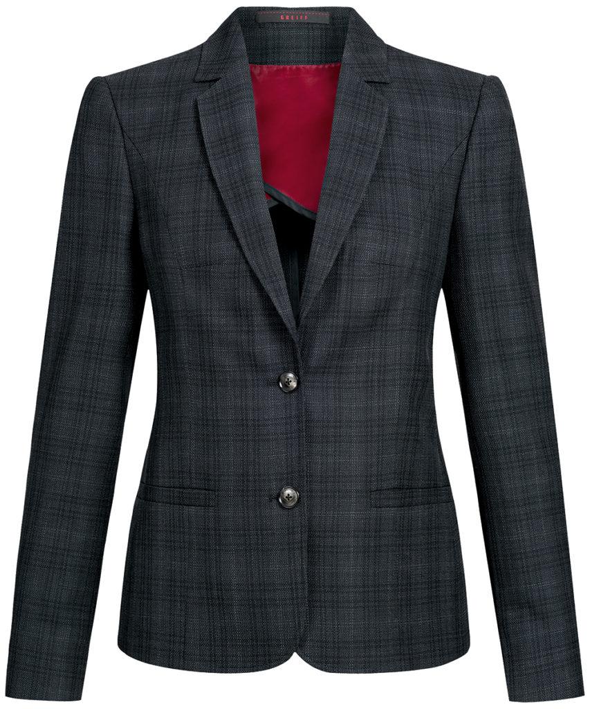 Greiff Casual-Blazer schwarz-grau kariert