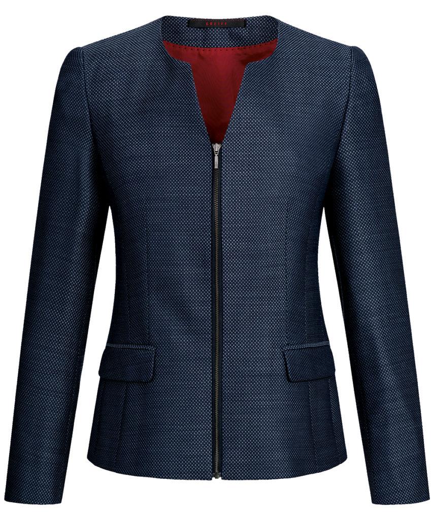 Greiff Casual-Blazer blau strukturiert