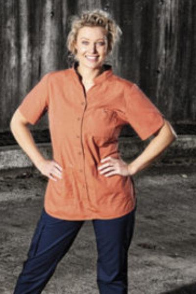 Nybo Flair Damenschlupfhemd, Kasack mit Knöpfen