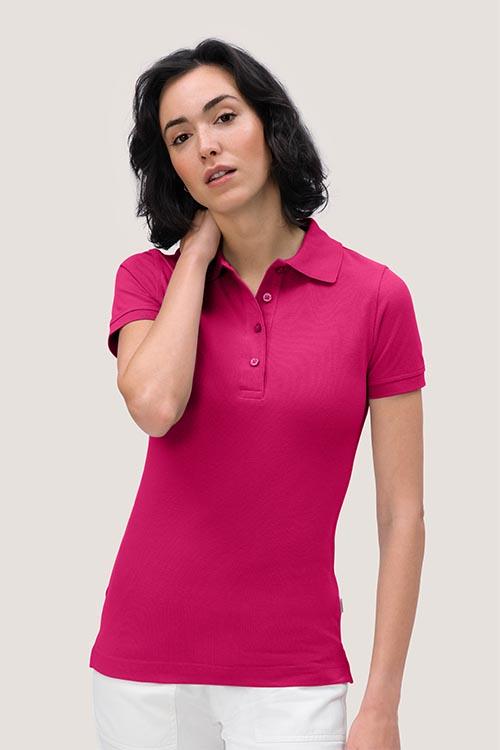 Berufsbekleidung Tierarztpraxis Damen Poloshirt Fuchsia