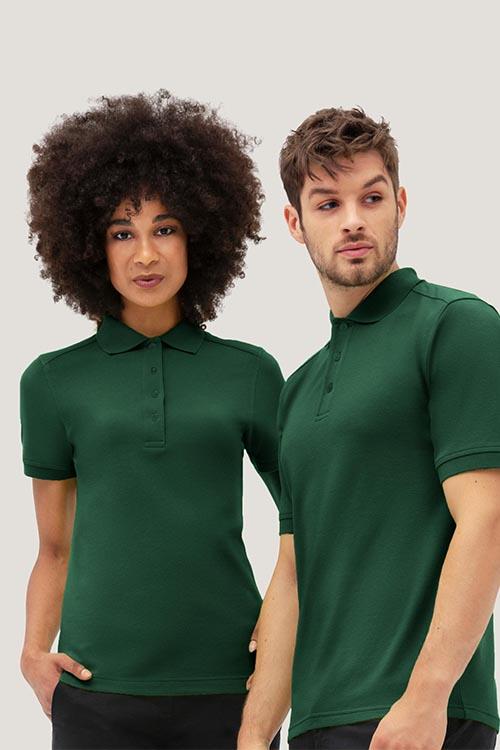 Bekleidung Housekeeping tannengrüne Poloshirts für Damen und Herren