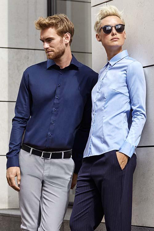 Berufsbekleidung Büro Langarm Hemden und Blusen