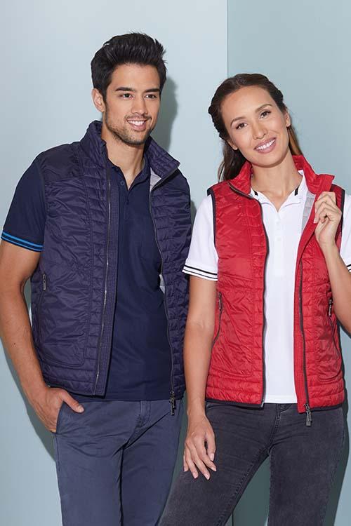 Berufsbekleidung Büro Steppwesten für Damen und Herren, Poloshirts