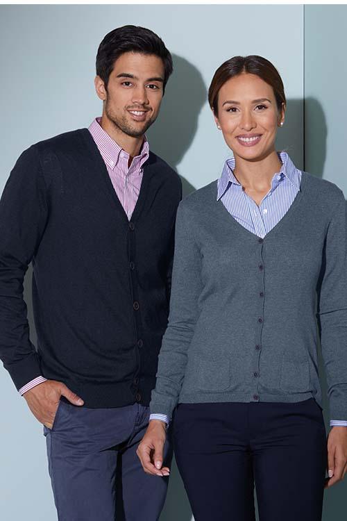 Berufsbekleidung Verkehrsbetriebe Strickjacken für Damen und Herren, gestreifte Hemden und Blusen