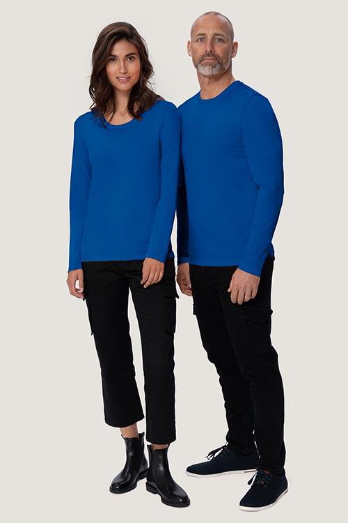 Bekleidung Zimmermädchen Langarmshirts Royalblau