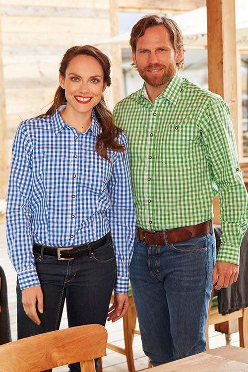 Hotelbekleidung Rezeption karierte Hemden und Blusen
