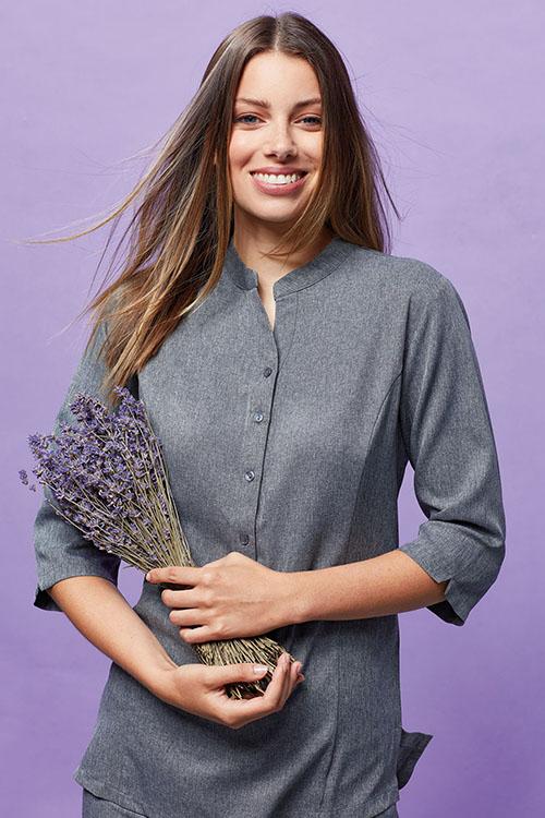 Berufsbekleidung Service grauer Damenkasack