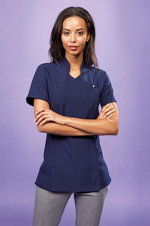 Bekleidung Zimmermädchen Kasack Royalblau Asiastyle