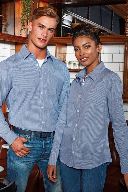 Hemden und Blusen kariert Langarm