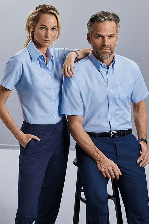 Hemden und Blusen Oxford Kurzarm