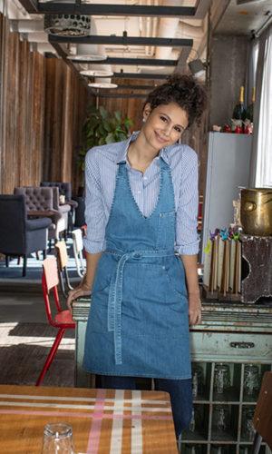 Berufsbekleidung Kantine Serviceschürzen Jeans-Latschürze