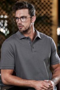 Berufsbekleidung Security Poloshirt dunkelgrau