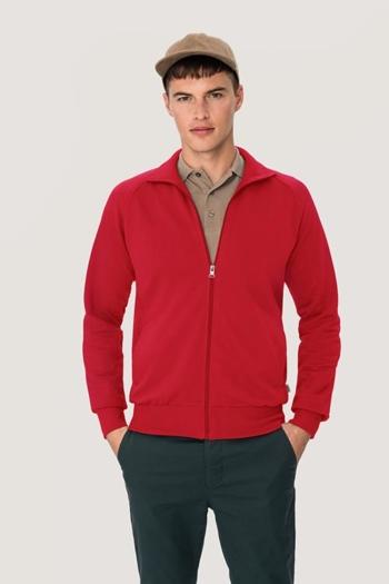 Arbeitskleidung sportive Sweatjacke HAK606 in rot