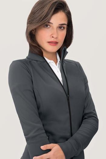 Berufsbekleidung Tierarzt funktionelle, sportlich geschnittene TEC-Jacke in anthrazit HAK207
