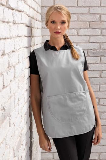 Berufsbekleidung Housekeeping Überwurf hellgrau mit großer Tasche PW171