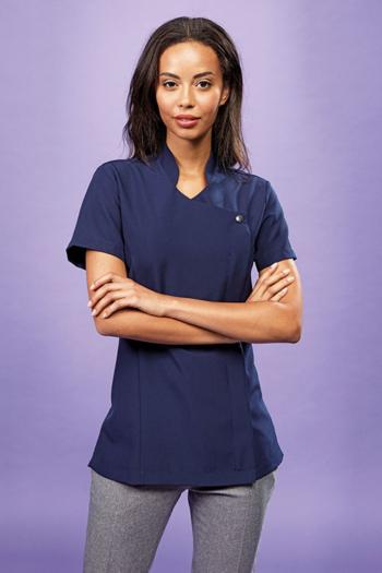Berufsbekleidung Zimmermädchen figurbetonter Kasack in blau PW683
