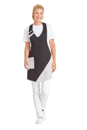 Berufsbekleidung Zimmermädchen Latzschürze in schwarz/weiß LB-11/272