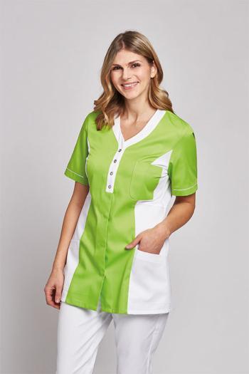 Berufsbekleidung Medizin DAMEN-Kasack in grün/weiß LB-08/2789