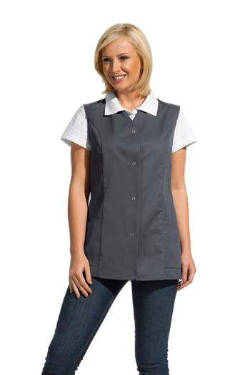 Berufsbekleidung Zimmermädchen Damenkasack ohne Arm in grau 04/2442