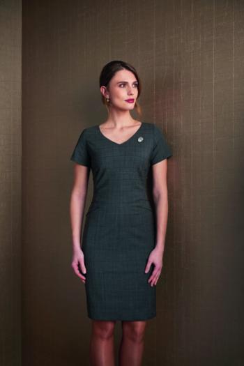 Berufsbekleidung Bestattungsinstitut Kleid in anthrazit