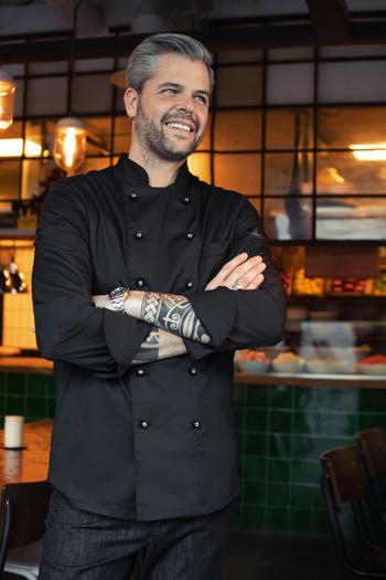 Berufsbekleidung Gastronomie Premium Kochjacke langarm in schwarz GR-5566