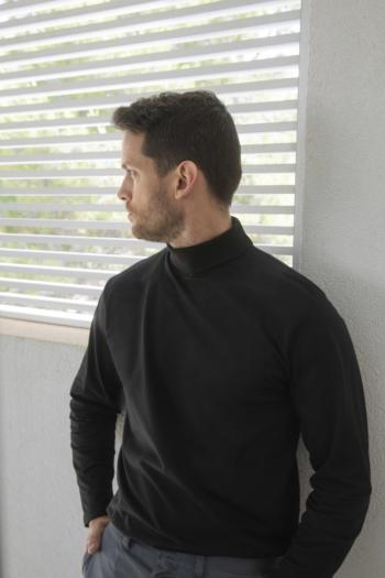 Berufsbekleidung Bestattungsinstitut schwarzer Rollkragenpullover H020