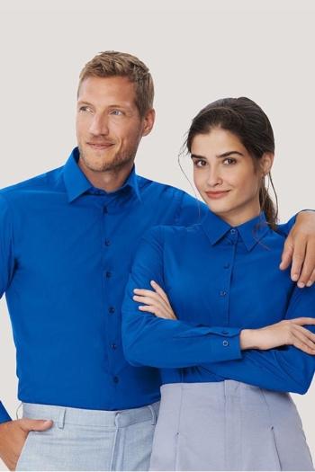 Berufsbekleidung Fitnessstudio besonders strapazierfähige Bluse/Hemd in royalblau HAK121/123