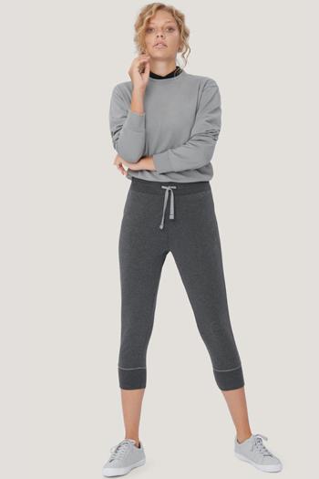 Berufsbekleidung Fitnessstudio sportlich leger geschnittene Jogginghose in anthrazit meliert HAK770