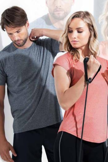 Berufsbekleidung Fitnessstudio Funktionsshirts aus recyceltem Polyester in melierter Optik ST8930/8830
