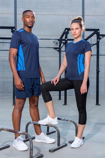 Berufsbekleidung Fitnessstudio Cooltex Training T-shirts in navy/electric blue KK940/930