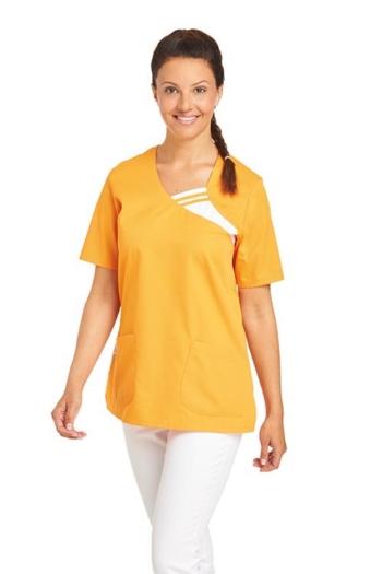 Berufsbekleidung Housekeeping gelber Schlupfkasack mit kontrastfarbigem Einsatz LB-08/1255