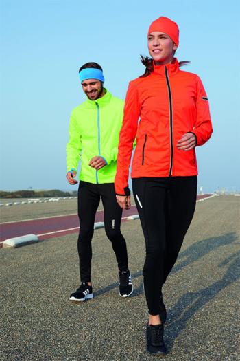 Berufsbekleidung Fitnessstudio funktionelle Softshell-Jacke für Sport, Freizeit und Promotion JN1125/1126 mit funktioneller Winter Laufhose JN491/492